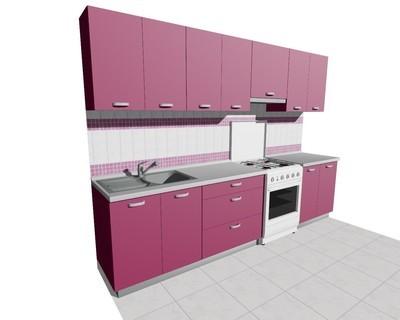 Кухня 3м (стационарная плита) матовая