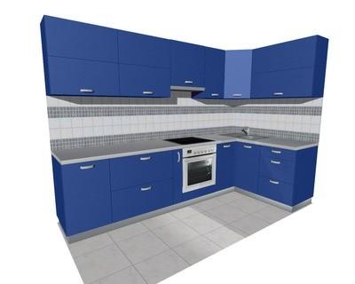 Кухня 3х1,5м (встроенная плита) глянцевая