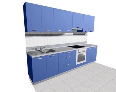 Кухня 3м (встроенная плита) глянцевая
