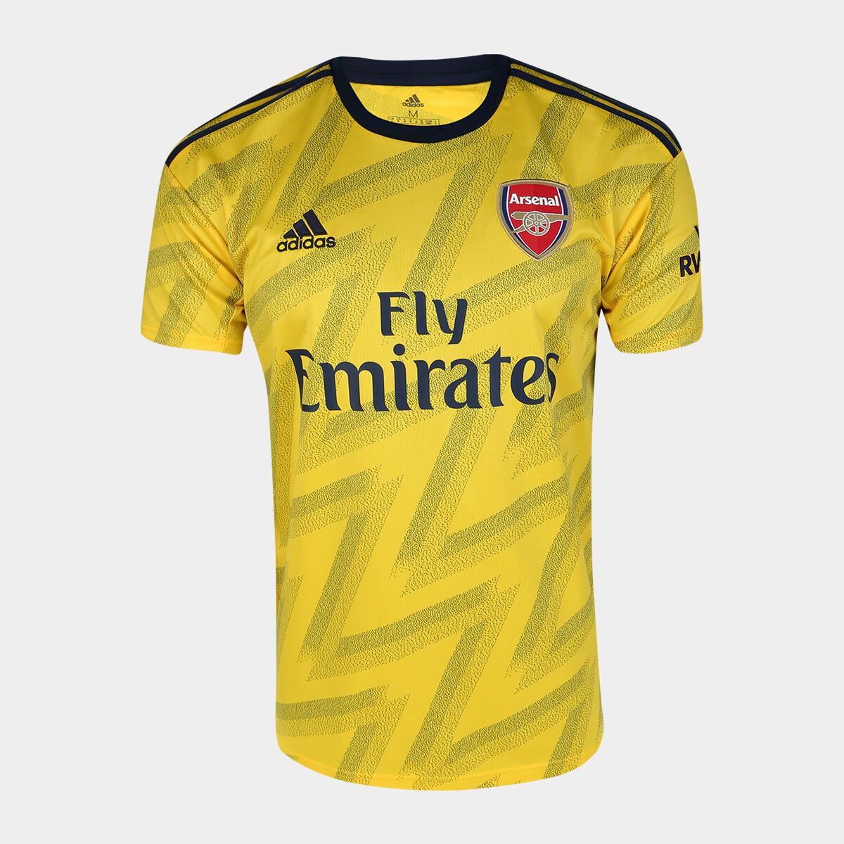 Camisa Arsenal Away 19/20 Adidas Masculina - Amarelo