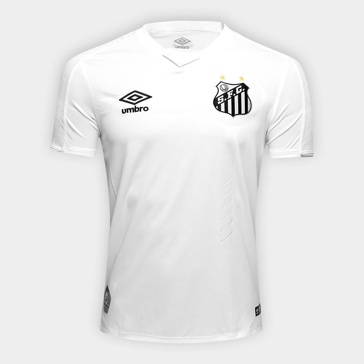 Camisa Santos I 19/20 Torcedor Umbro Masculina - Branco