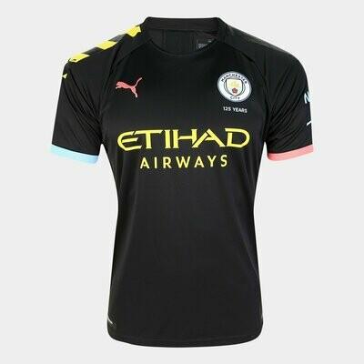 Camisa Manchester City Away 19/20  Puma - Preto e Laranja Pronta Entrega