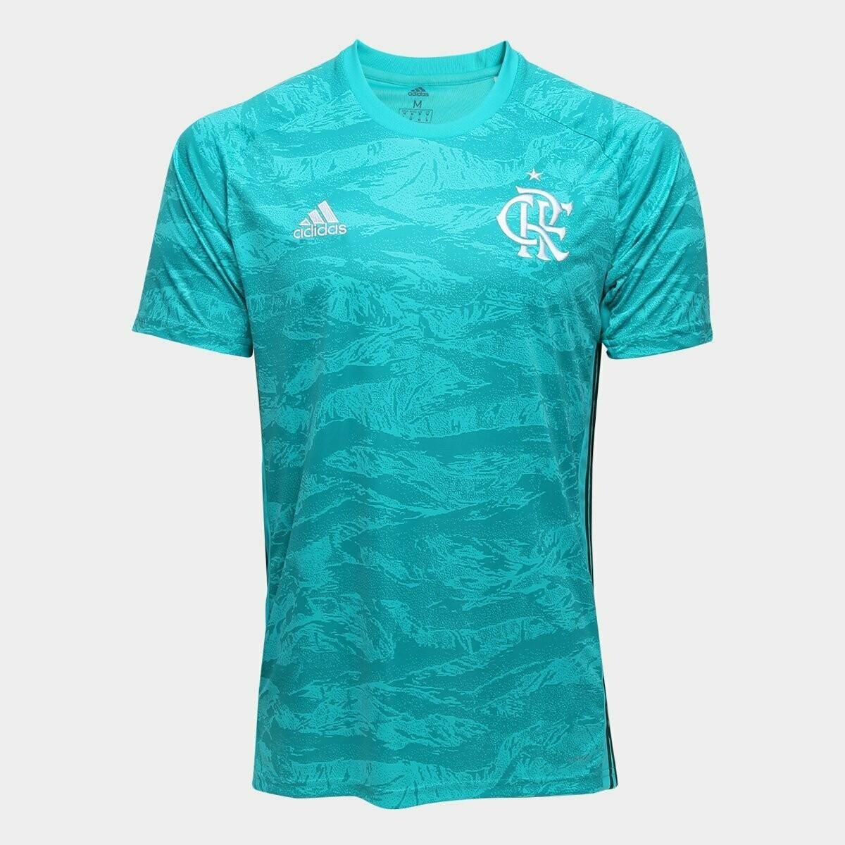 Camisa de Goleiro Flamengo I 19/20 Adidas Masculina - Verde água