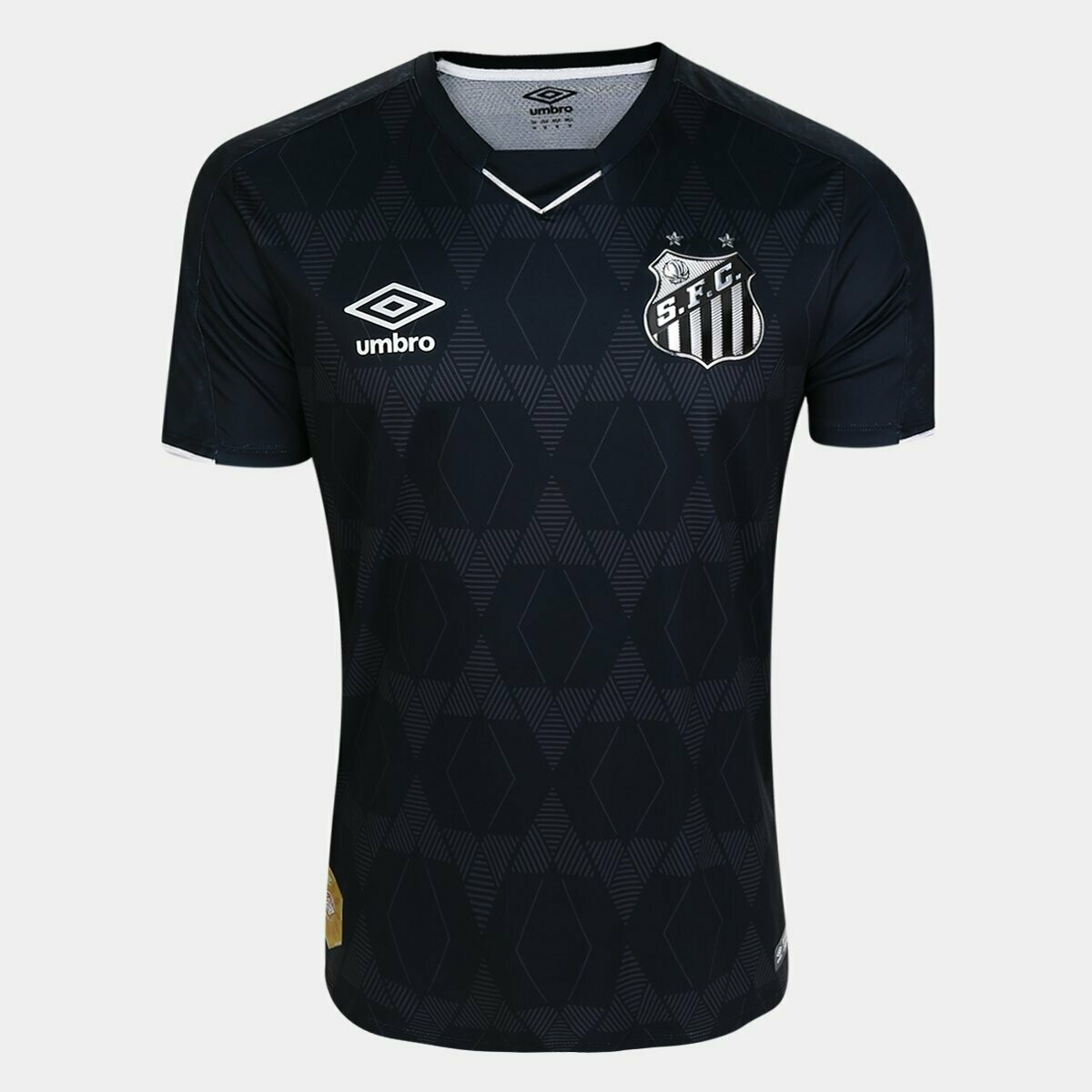 Camisa Santos III 19/20  - Torcedor Umbro Masculina - Preto e Prata