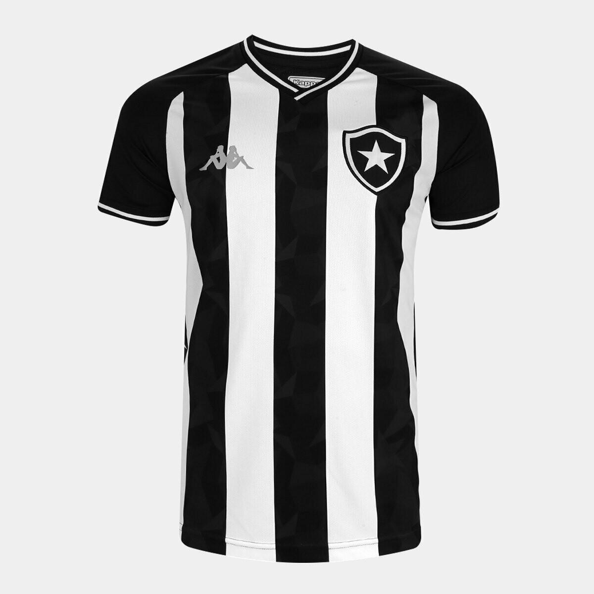 Camisa Botafogo I 19/20  Torcedor Kappa Masculina - Preto e Branco