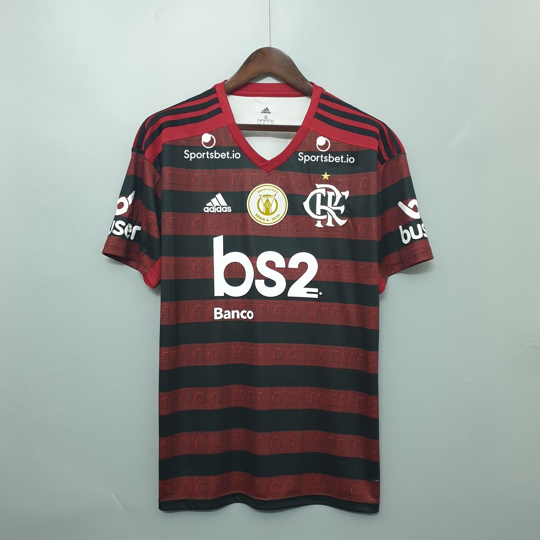 Camisa Adidas Flamengo I 2019 Patrocínio e patch