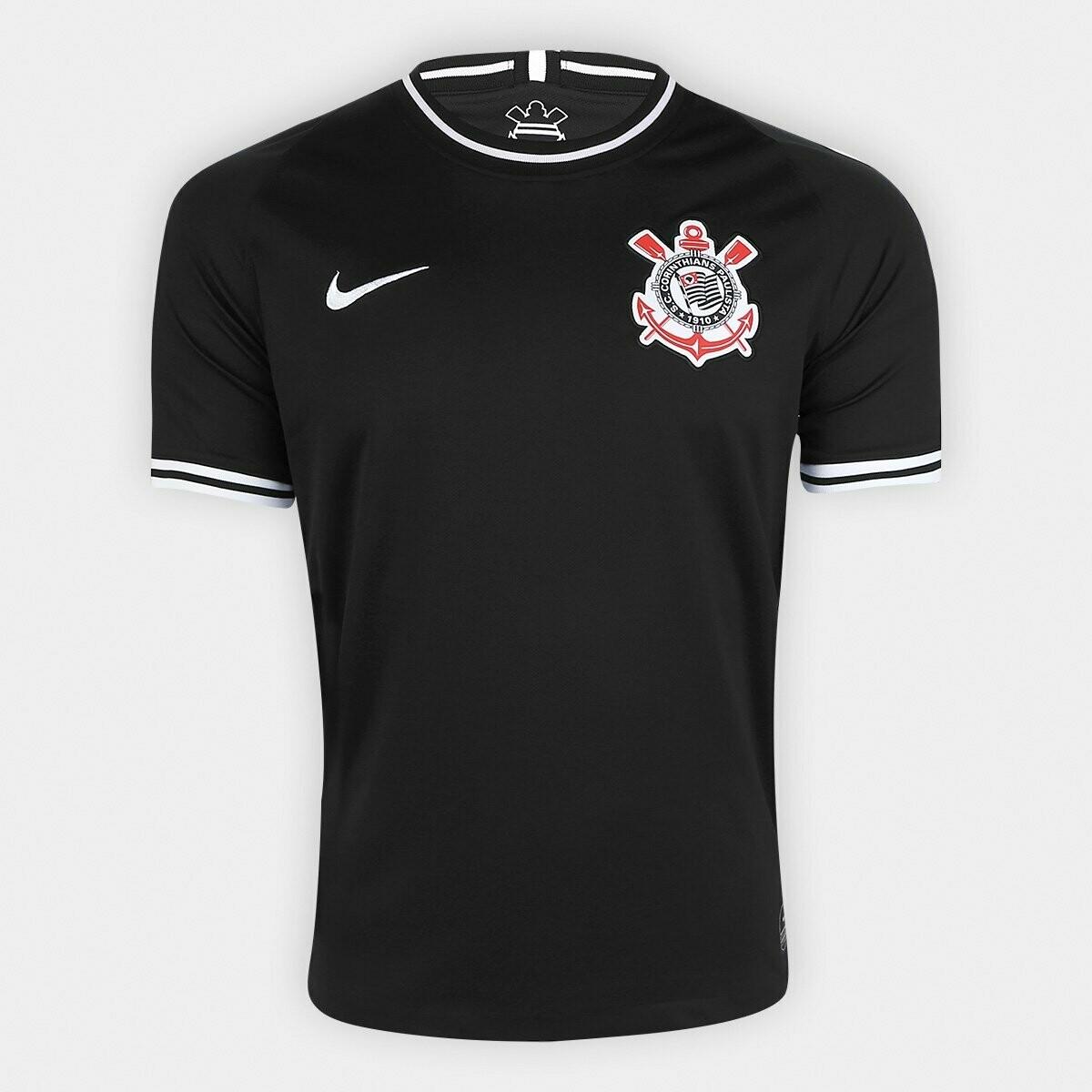 Camisa Corinthians II 19/20  Torcedor Nike Masculina - Preto e Branco