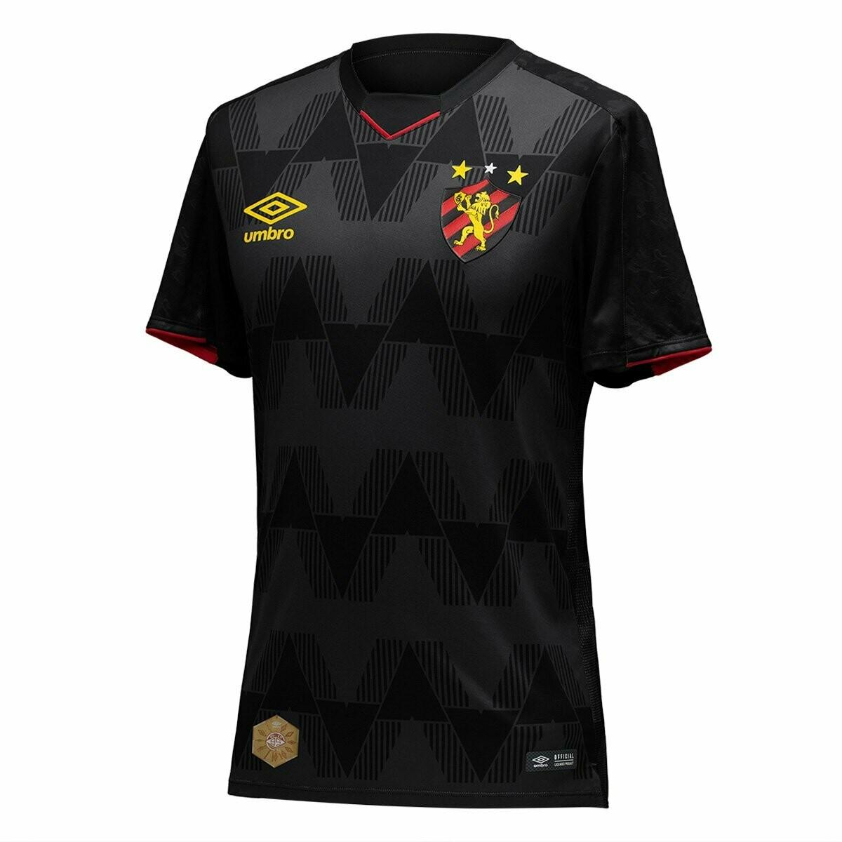 Camisa Sport Recife III 19/20 Torcedor Umbro Masculina - Preto e Vermelho