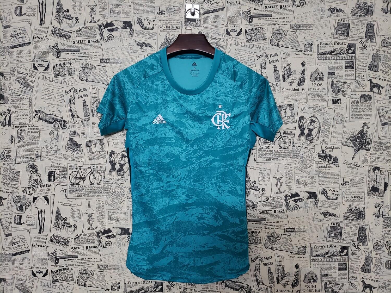 Camisa de Goleiro Flamengo I 19/20 Adidas Feminina - Verde água