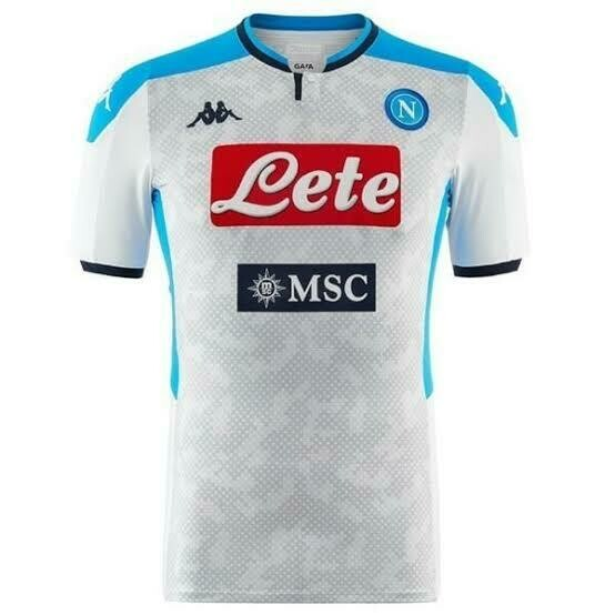 Camisa Napoli Third 19/20 - Branco e Azul