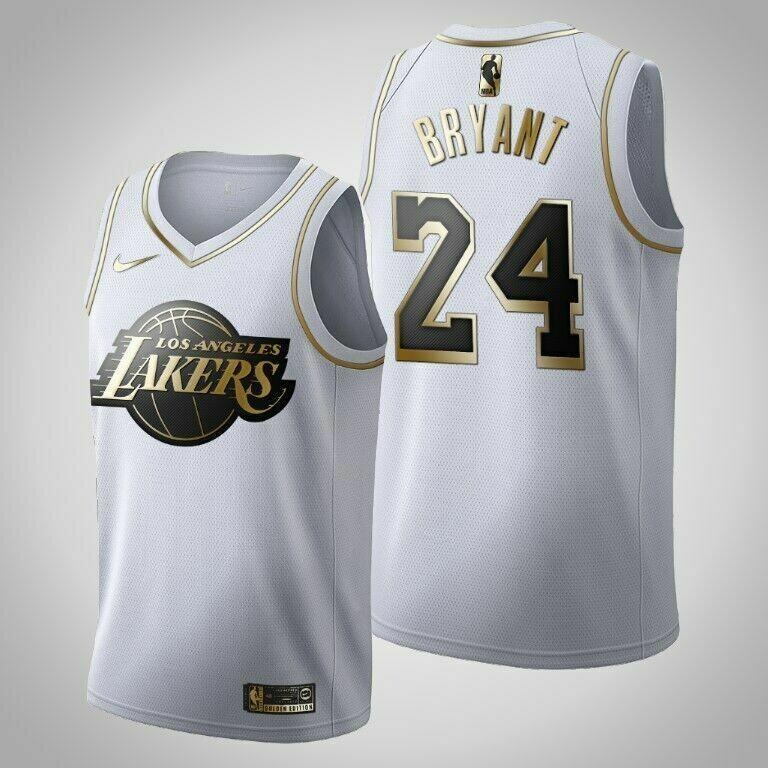 camisa Lakers de  Bryant 24 Platinum