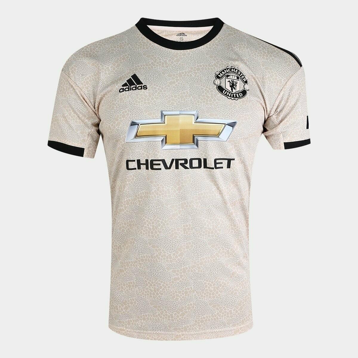 Camisa Manchester United Away 19/20 Torcedor Adidas Masculina - Bege
