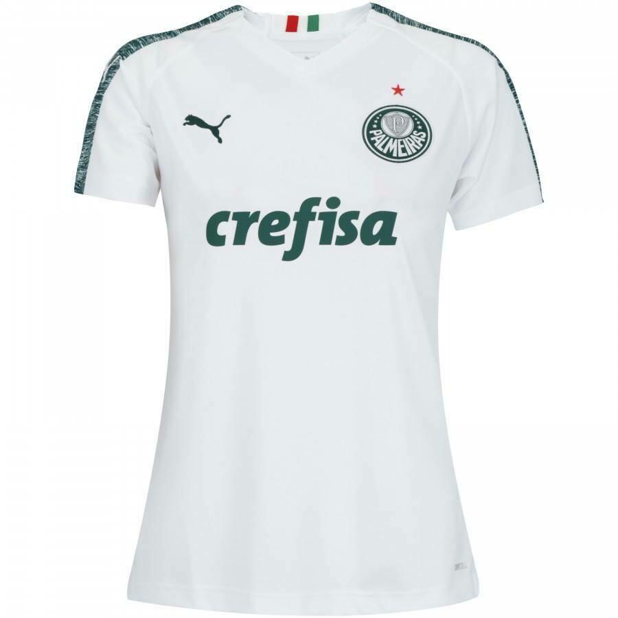 Camisa Palmeiras II 19/20 s/n° - Torcedor Puma Feminina - Branco