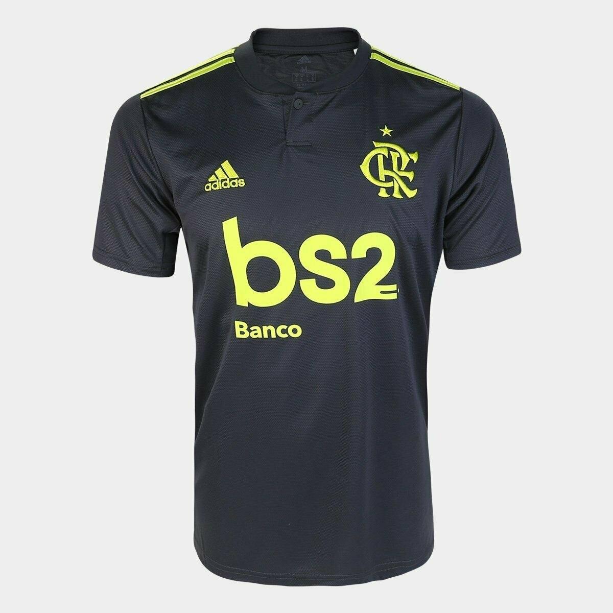 Camisa Flamengo III 19/20 Torcedor c/ Patrocínio bs2 Adidas Masculina