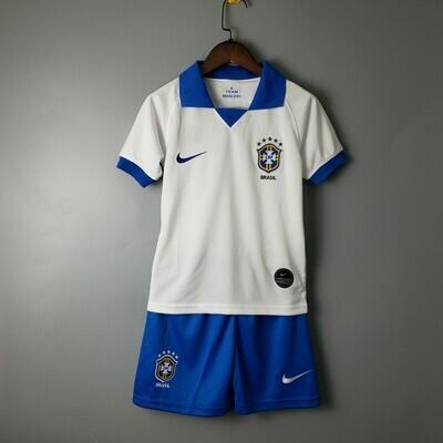 Kit Infantil Seleção Brasileira Away Nike 2019