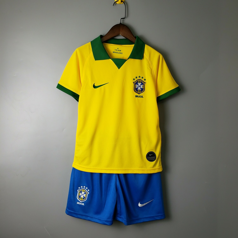 Kit Infantil Seleção Brasileira Home Nike 2019