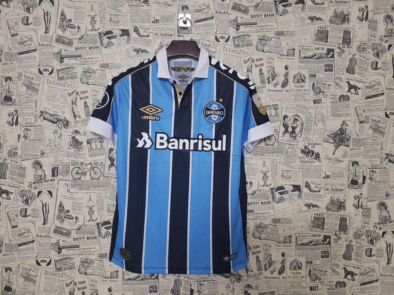 Camisa do Grêmio 2019 Home Patrocínios e Patch Libertadores