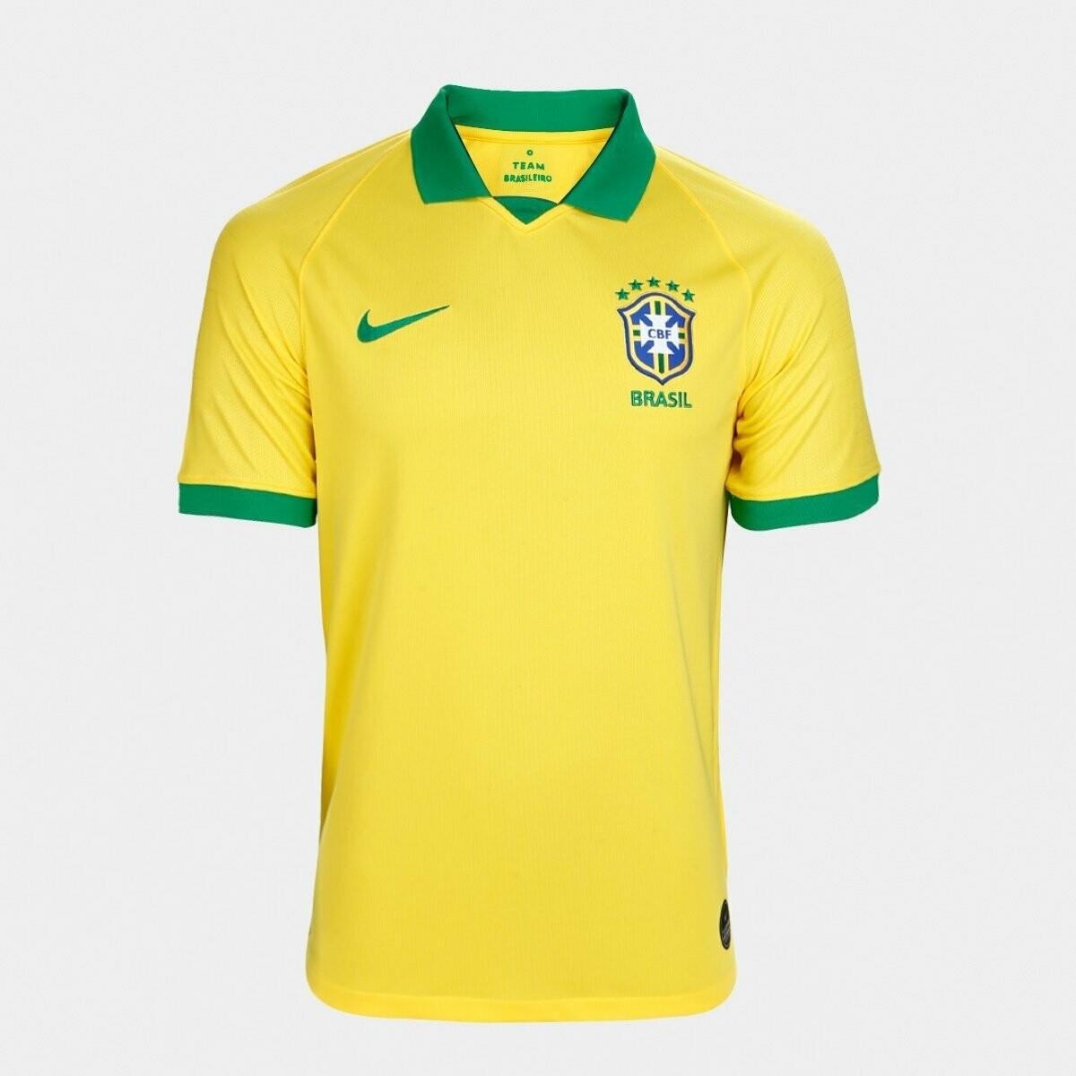 Camisa Seleção Brasil I 19/20  Torcedor Nike Masculina - Amarelo e Verde