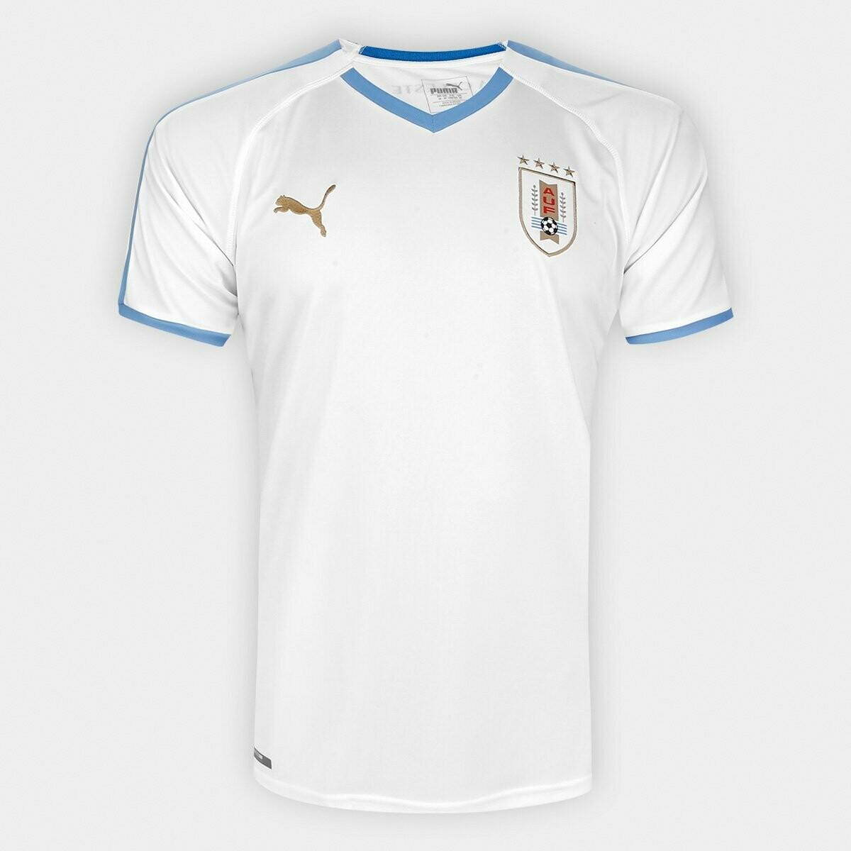 Camisa Seleção Uruguai Away 2019 Torcedor Puma Masculina - Branco