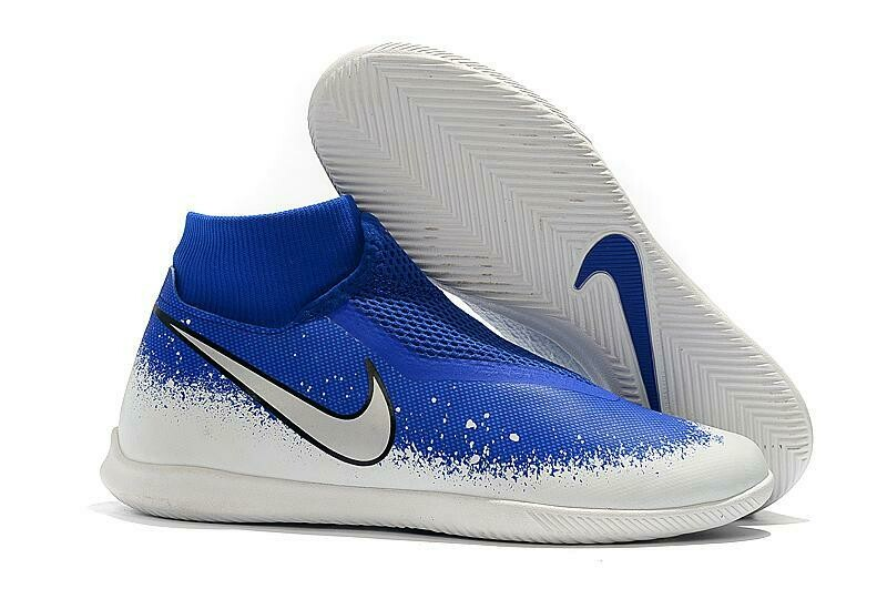 "Chuteira Nike Phantom Vision Elite Dynamic Fit IC ""Euphoria"" Azul/Branco"