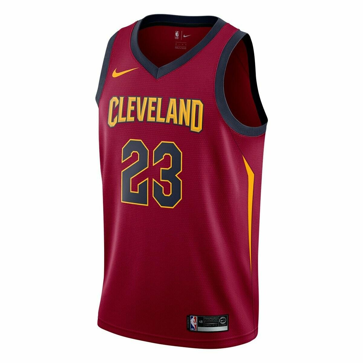 Camiseta Regata Nike Cleveland Cavaliers Swingman NBA - Lebron James - Vermelho e Marinho