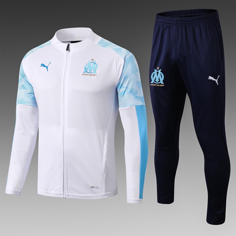 Kit Agasalho de  Treinamento Olympique de Marseille-19/20 Branco