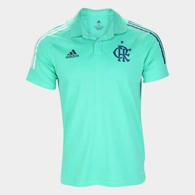 Camisa Polo Flamengo 20/21 Adidas Masculina - Verde água