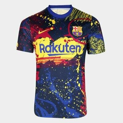 Camisa Barcelona Treino 20/21 Nike Masculina - Marinho