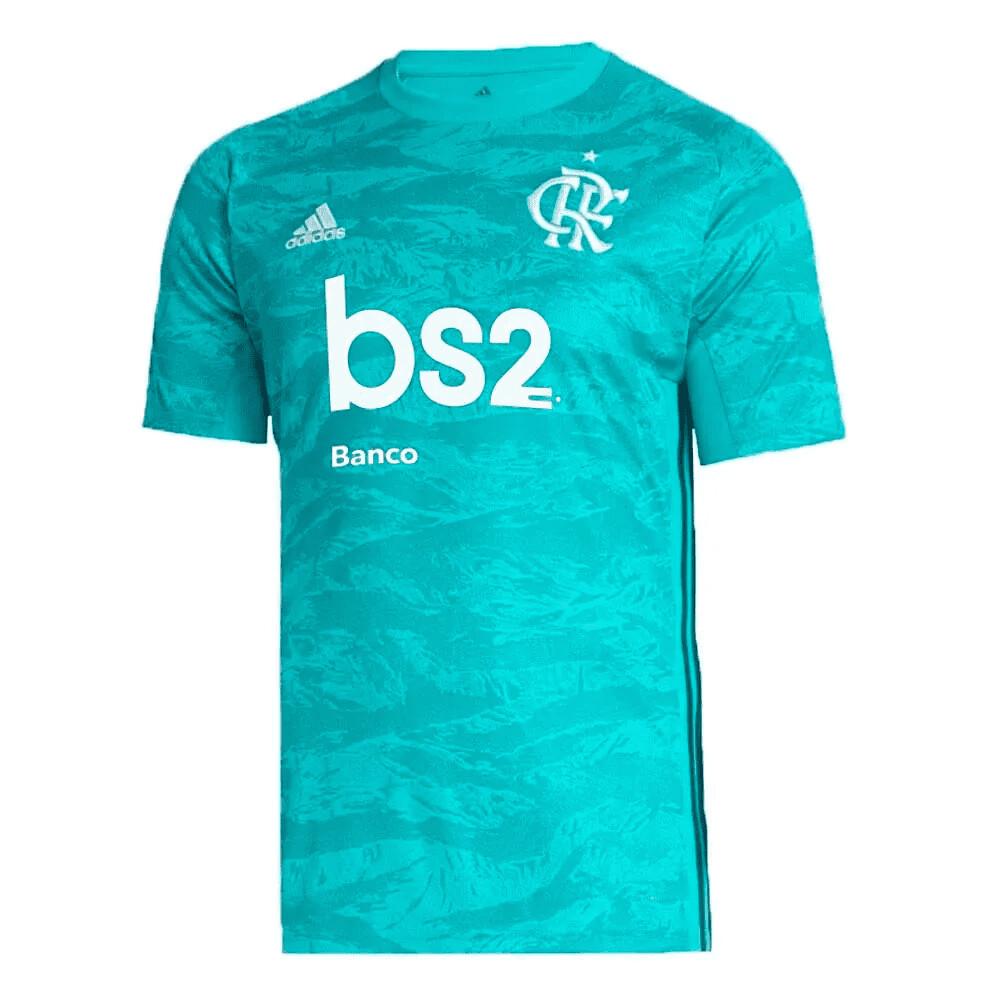 Camisa de Goleiro Flamengo I 19/20 Adidas Masculina - Verde água Patrocínio bs2
