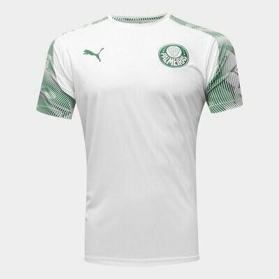 Camisa de Treino Palmeiras 2020 Puma Masculina - Branco e Verde