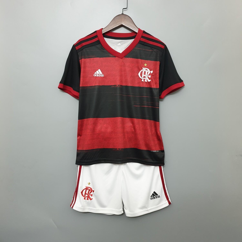 Camisa Flamengo I 2020/2021 adidas - Infantil+ Short de Brinde