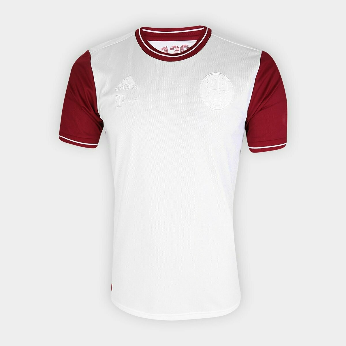 Camisa Bayern de Munique 120 anos Torcedor Adidas Masculina - Branco