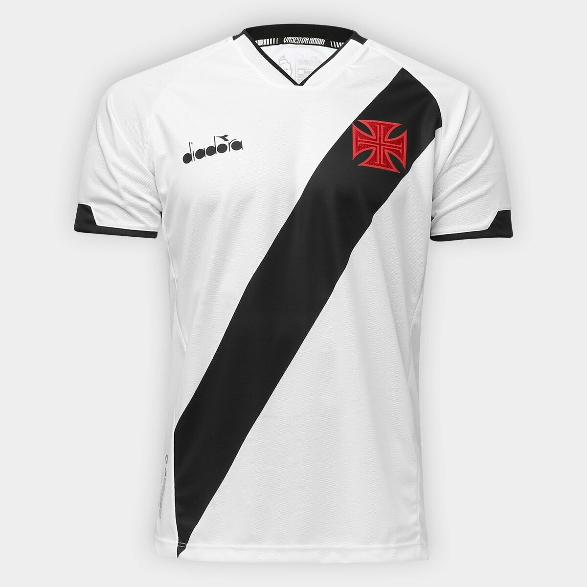 Camisa Vasco II 20/21  Torcedor Diadora Masculina - Branco