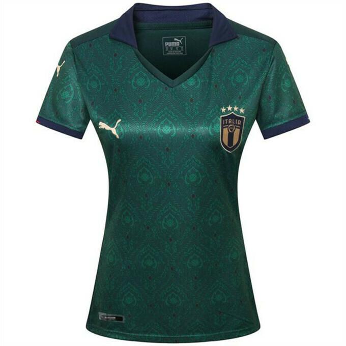 Camisa Seleção Itália Third 19/20 Puma Feminina - Verde e Azul