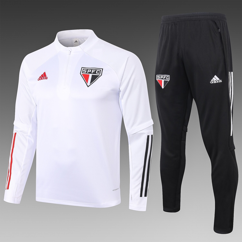 Agasalho São Paulo  20/21 Adidas Masculino Branco