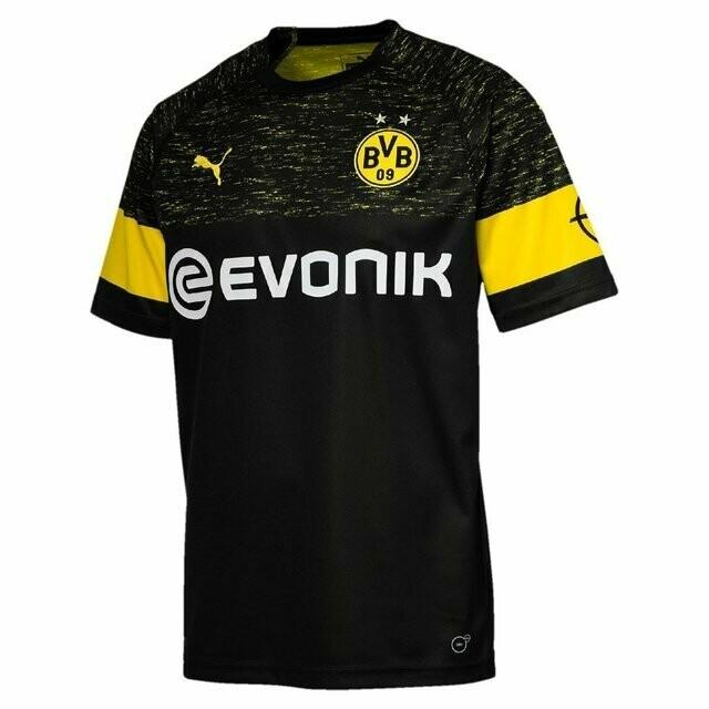 Camisa Borussia Dortmund Away 2019 - Torcedor Puma Masculina - Preto