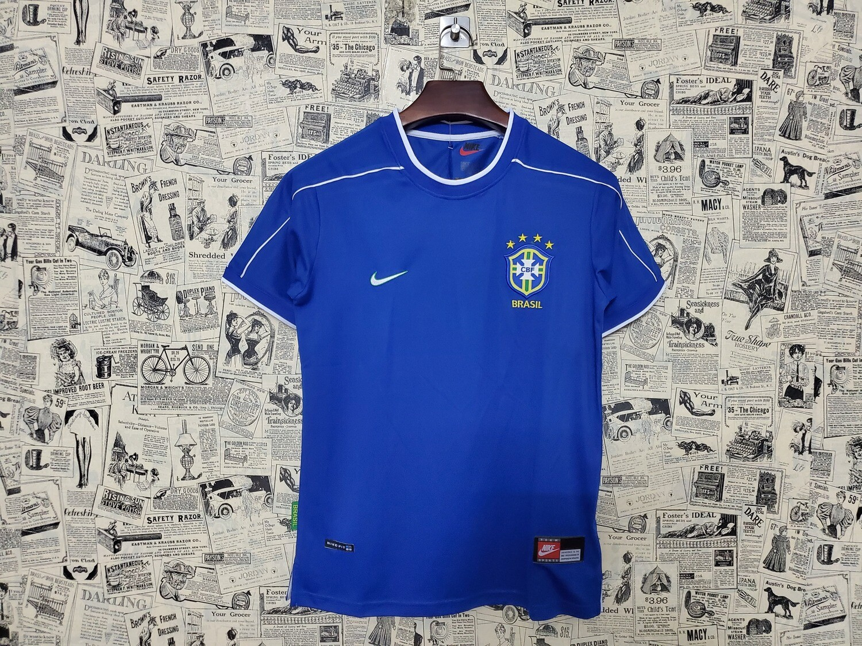 Camisa Seleção Brasileira II  1998 Retrô Azul