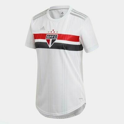 Camisa São Paulo I 20/21  Adidas Feminina - Branco e Vermelho