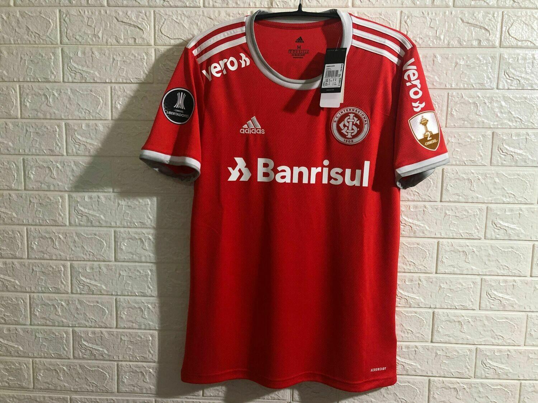 Camisa Internacional I 20/21  Torcedor Adidas Masculina - Vermelho Patrocínios e Patch