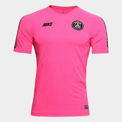 Camisa Paris Saint-Germain Treino 19/20 Nike Masculina - Pink e Preto
