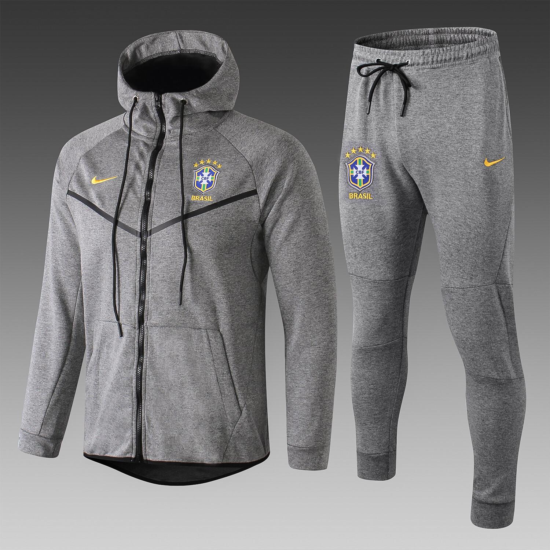 Kit Agasalho cinza Nike Brasil 2019
