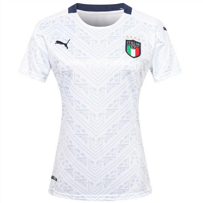 Camisa Seleção Itália Away 20/21 Torcedor Puma Feminina - Branco e Marinho