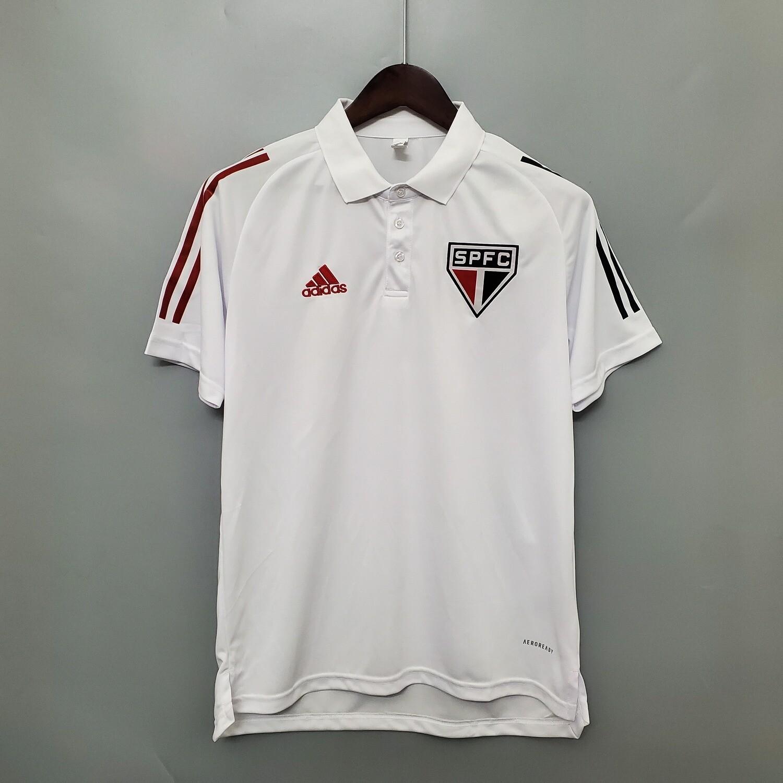 Camisa Polo São Paulo 2020 Branca Adidas