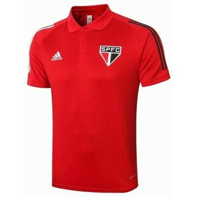 Camisa Polo São Paulo 2020 Vermelha