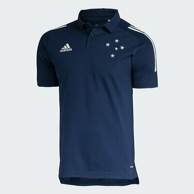 Camisa Polo Cruzeiro Comissão Técnica 20/21 Adidas Masculina - Marinho