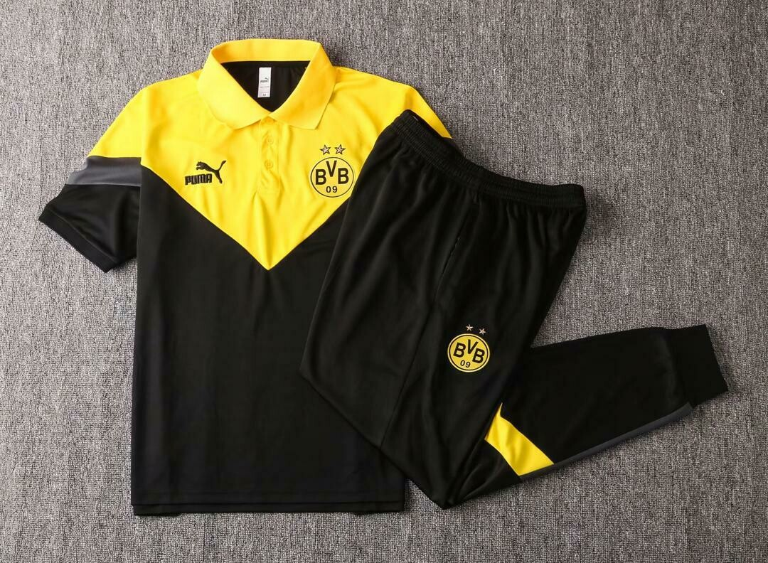 Kit Treinamento manga curta Borussia Dortmund 2020 Polo