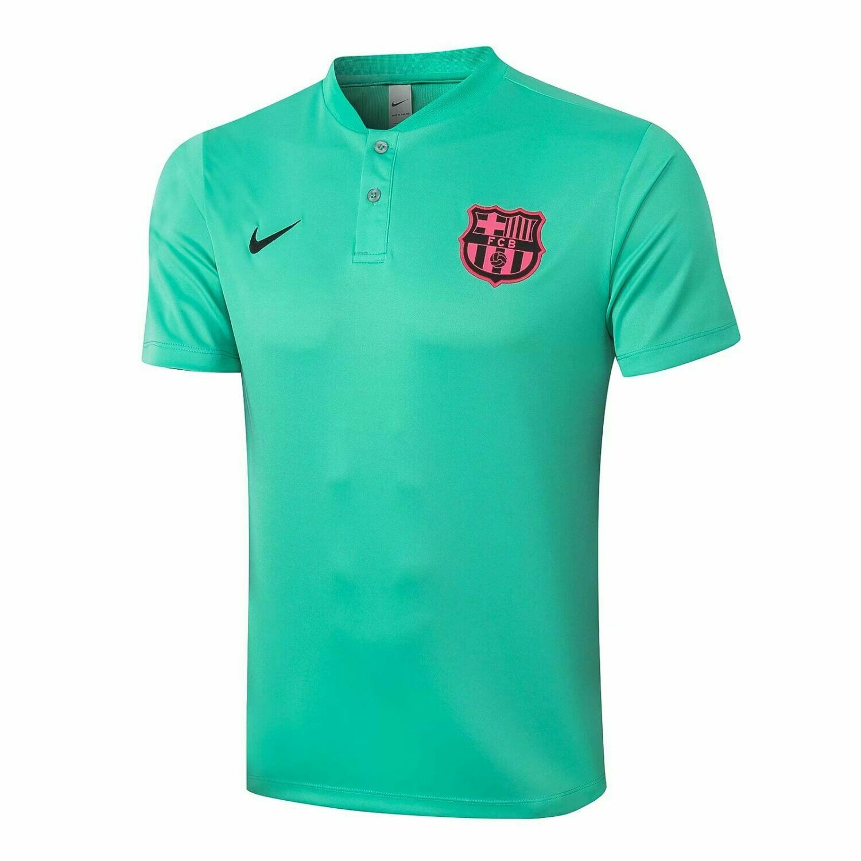 Camisa Barcelona Treino 20/21 Nike verde Polo