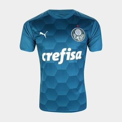 Camisa de Goleiro Palmeiras II 20/21  Torcedor Puma Masculina - Azul