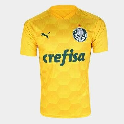 Camisa de Goleiro Palmeiras I 20/21  Torcedor Puma Masculina - Amarelo