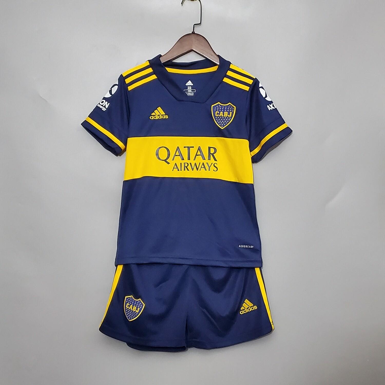 Camisa Boca Juniors I 20/21 adidas -Infantil + short